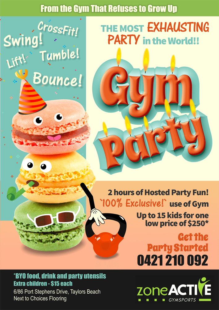 Gym parties A4
