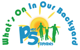 Whats On In Our Backyard | Port Stephens  Retina Logo