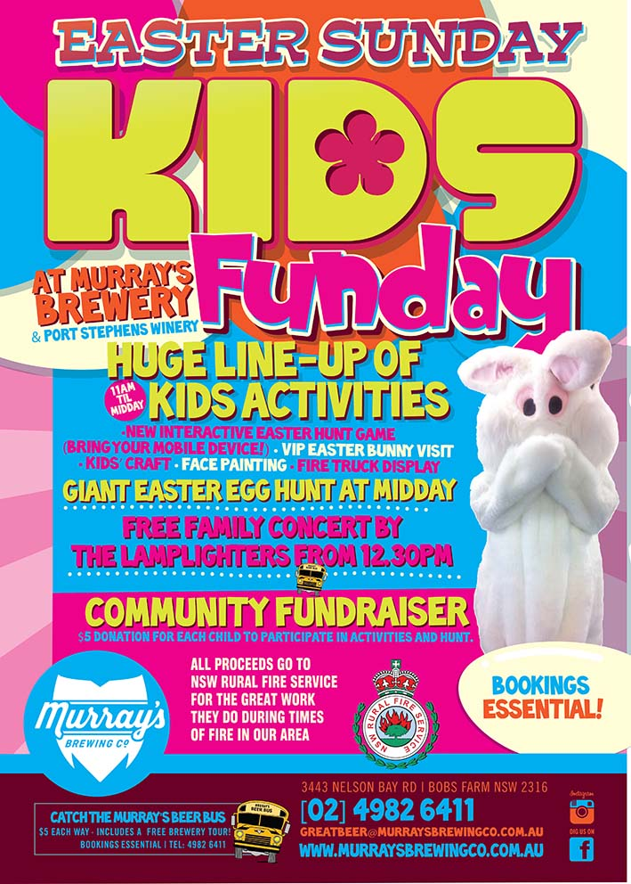 Easter Sunday Kids Funday At Murrays Brewery Whats On In Our